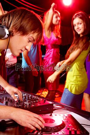during disco