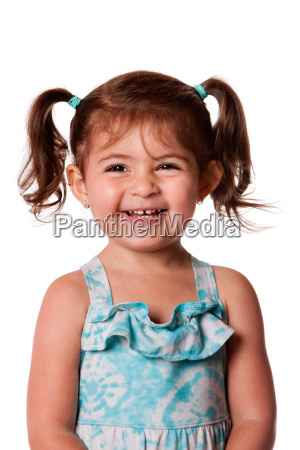 happy laughing young toddler girl
