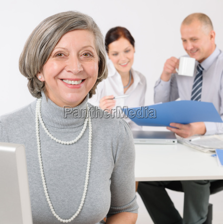 business team senior manager woman with