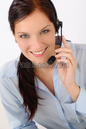 customer service woman call operator phone