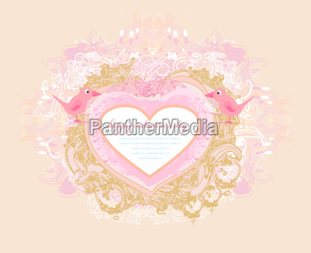valentines day greeting card with 2