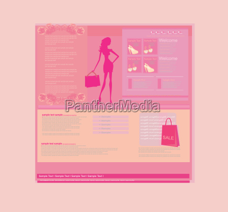 fashion shopping website template