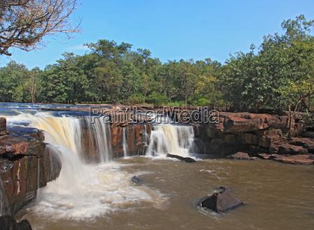 beautiful scenic of waterfall tadtone in