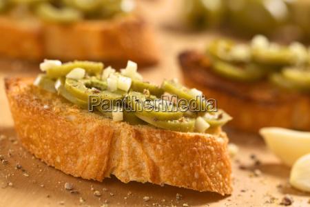 bruschetta with olives and garlic