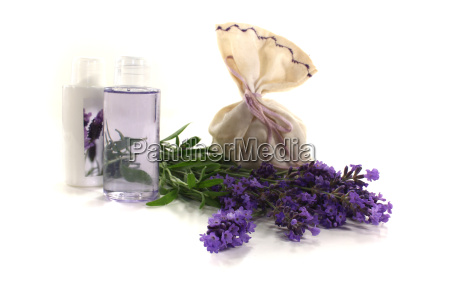 lavender oil with flowers
