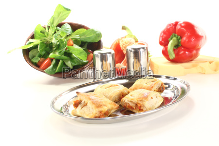 puff pastry with paprika and cheese
