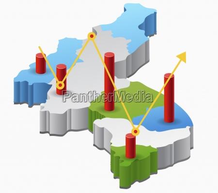 graph diagram bar graph sign signature