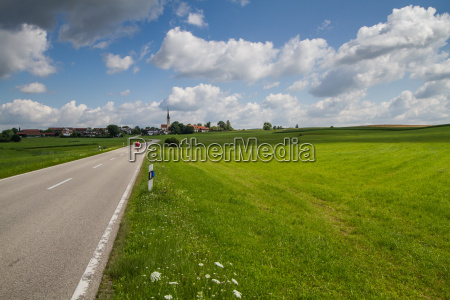 country road in bavaria in early