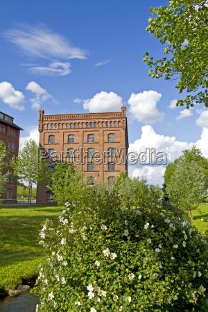 old factory buildings in poessneck