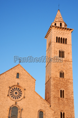 trani cathedral in the sunset light