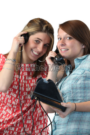 teens with old phone