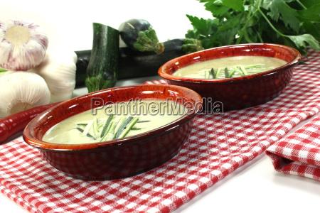 fresh zucchini cream soup