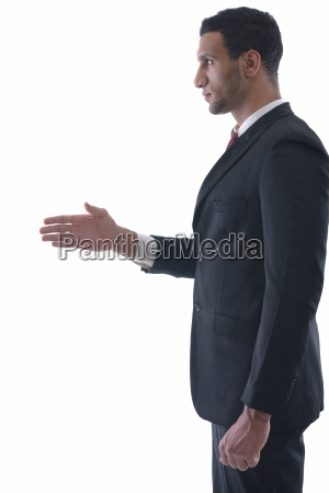business man giving you a hand