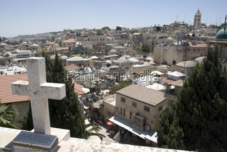 view over the old city of