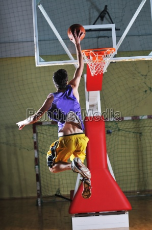 basket ball game player at sport