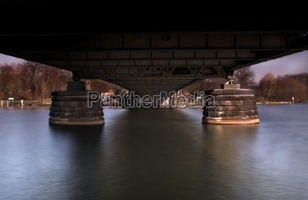 under the glienicke bridge in march
