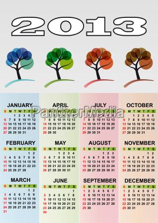 2013 calendar season tree