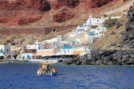 thirassia harbor santorini greece