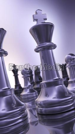 abstract chess figures high gloss
