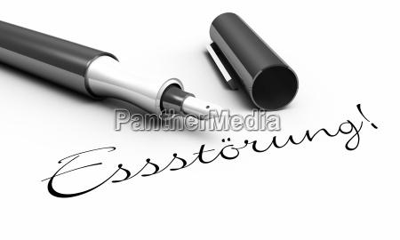 eating disorder pen concept