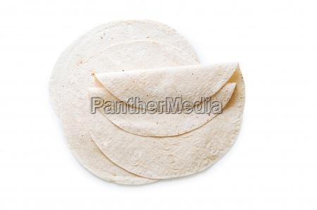 traditional azeri lavash bread isolated on