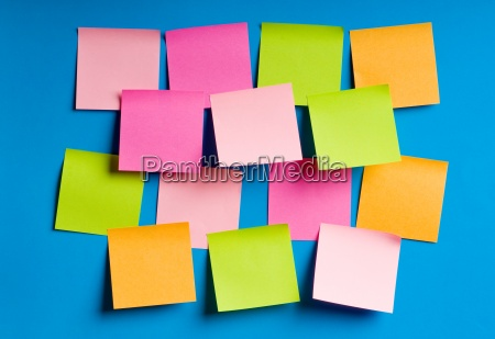 reminder notes on the bright colorful