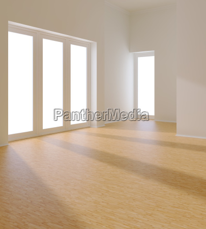 empty white room with window