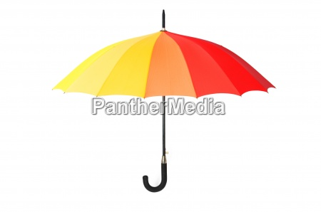 colourful umbrella isolated on the white