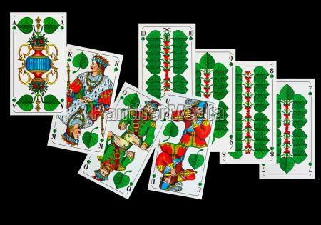 playing cards sheepshead map