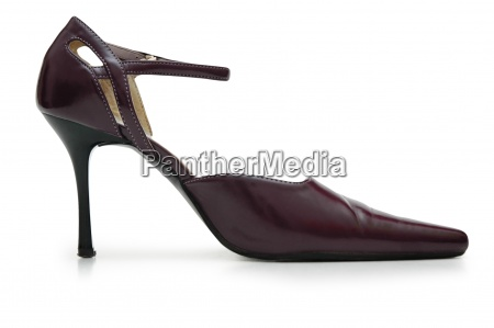 female leather shoe isolated on the