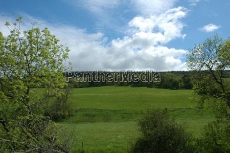 scottish landschaft mit klaren himmel