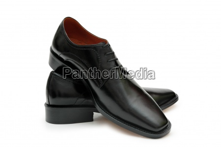 black male shoes isolated on the