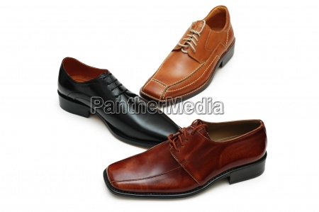 selection of various males shoes isolated