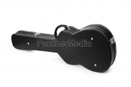 black guitar case isolated on the