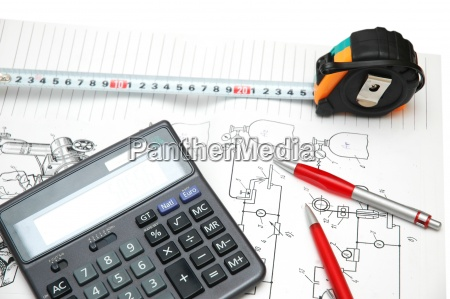 calculator, and, pencils, over, the, - 7460395