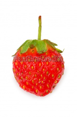 red strawberry isolated on the white