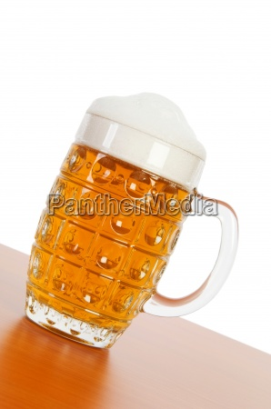 beer glass isolated on the white