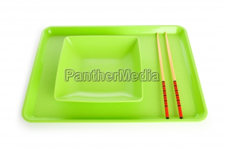 asian food concept with plate and