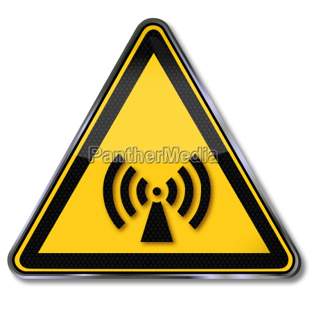 sign warning of ionizing and electromagnetic