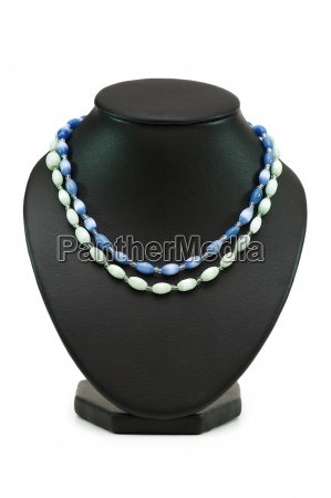 two necklaces isolated on the white