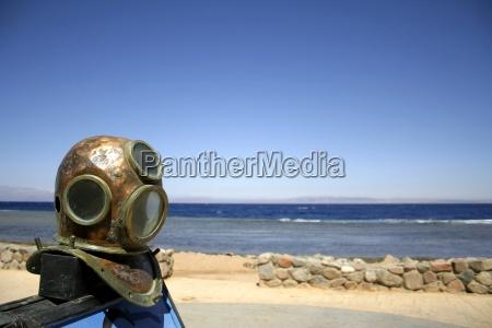 old diving helmet red sea sinai