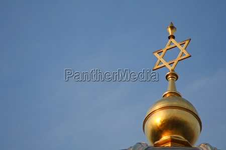 golden star of david on a