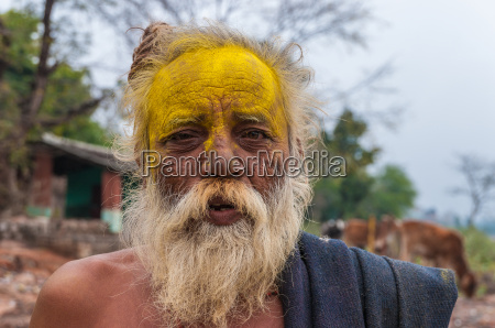 old indian man with beard and