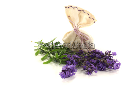 lavender bag with flowers