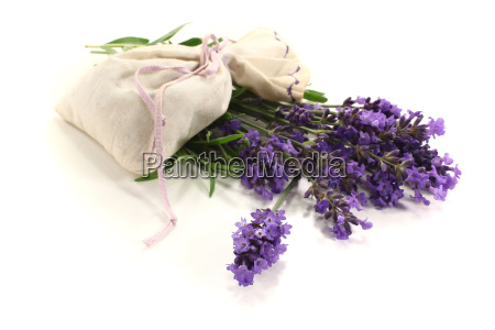 lavender bag with violet flowers and