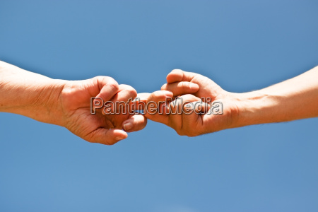 blue hand hands plunge hold skirmish