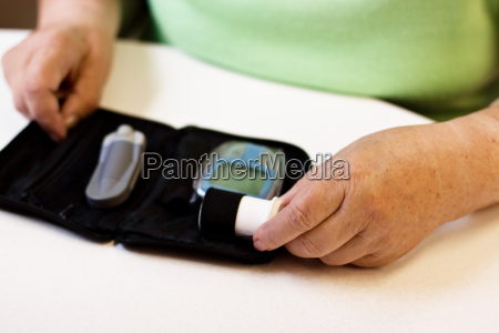hands of a senior woman with