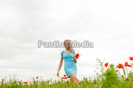 young woman in mohnfeld