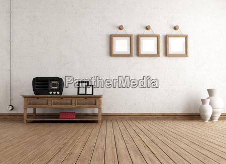 empty vintage interior