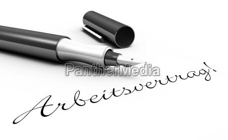 employment contract pen concept